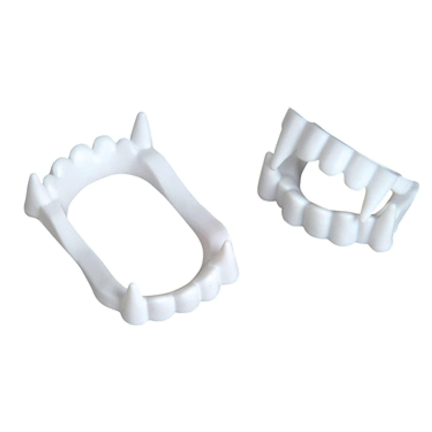 White Plastic Halloween Vampire Teeth Fangs - Fun Express