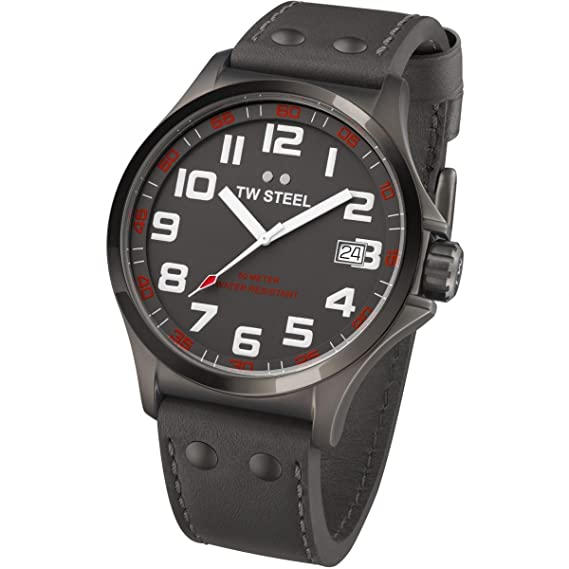 TW Steel TW420 - Reloj (Reloj de pulsera, Masculino, Acero inoxidable, Negro