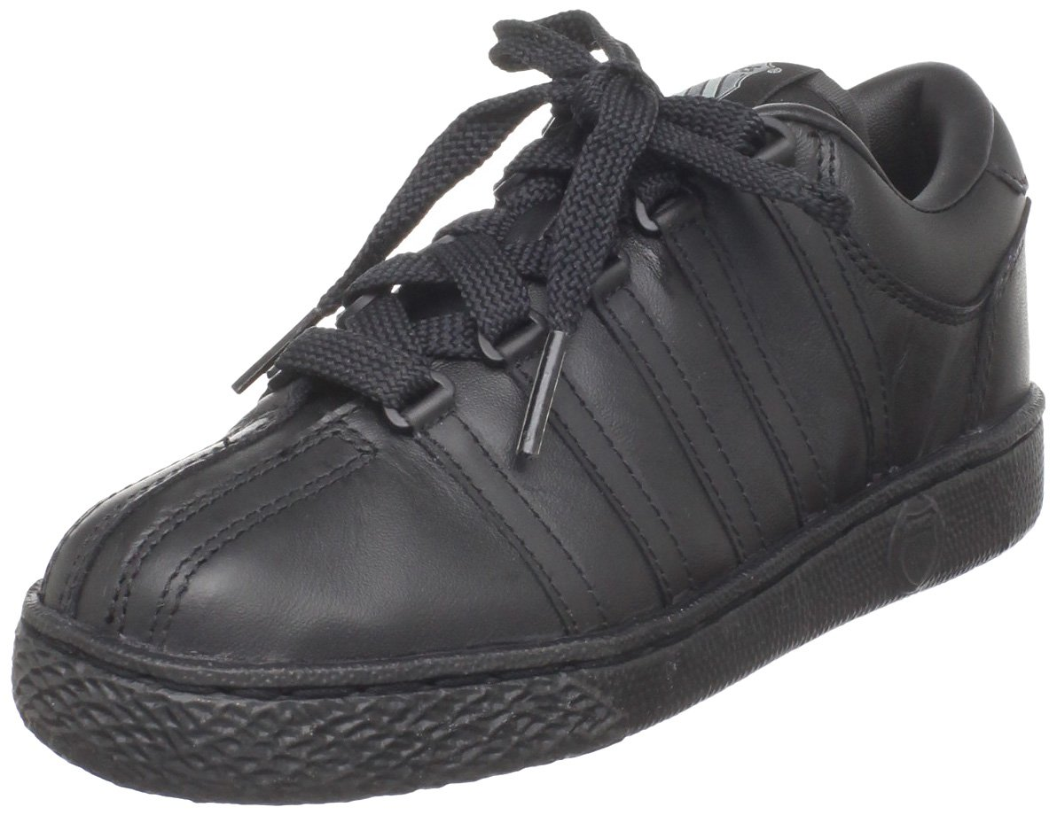 K-Swiss 501 Classic Tennis Shoe (Little Kid),Black/Black,11 M US Little Kid