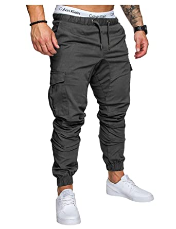 HX fashion Pantalones Hombres Primavera Larga Caída Fitness ...