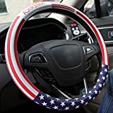 united states flag wheel cover - Steering Wheel Cover,American Flag Microfiber Leather Auto Car Steering Wheel Cover Universal 15 inch(American Flag)