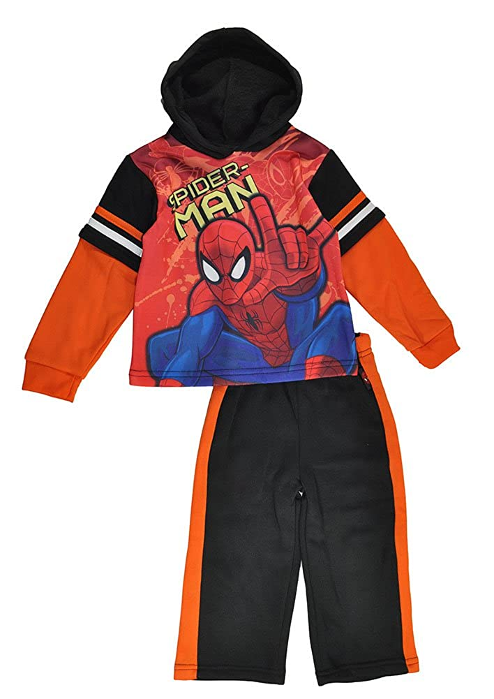 Spider-Man Little Boys Pull Over Hoodie 2pc Sweat Suit 7MV2019B-021215-H.50