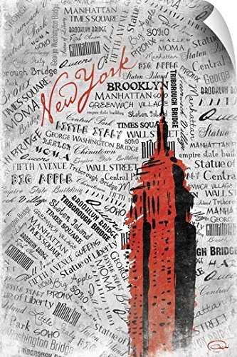 Onrei Art Wall Peel Wall Art Print entitled (Directions To Empire State Building)