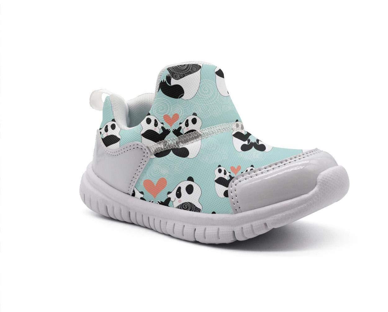ONEYUAN Children Panda Bear Love Art Kid Casual Lightweight Sport Shoes Sneakers Running Shoes
