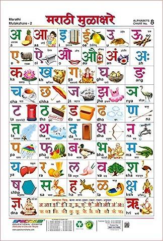 Spectrum Pre - School Kids Educational Laminated Marathi Mulakshare Wall Chart