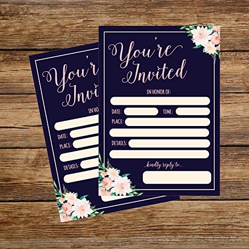 50-Fill-In-Invitations-Wedding-Invitations-Bridal-Shower-Invitations-Rehearsal-Dinner-Dinner-Invitations-Baby-Shower-Invitations-Bachelorette-Party-Invitations-Engagement-Sweet-16-Graduation