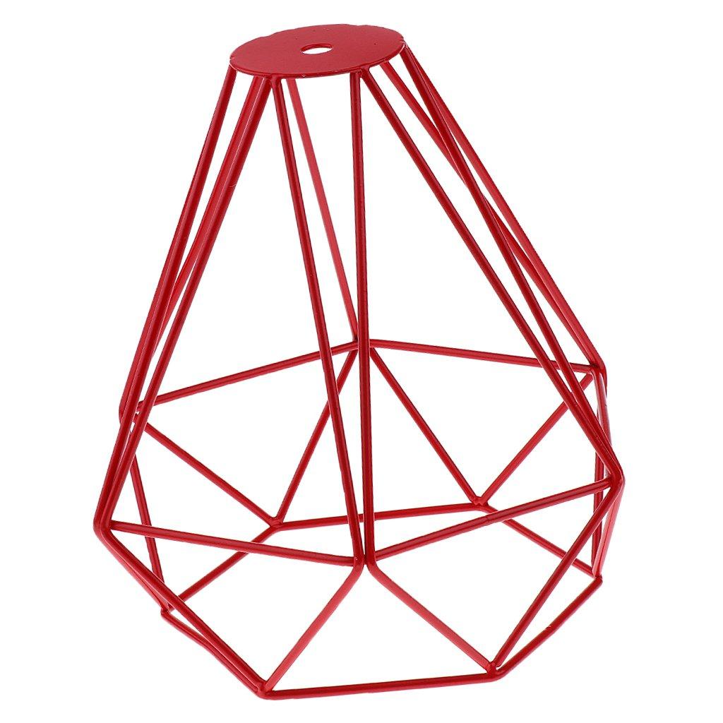 Sharplace Vintage Diamant Lampenschirme aus Metall für Hängeleuchte Deckenleuchte Wohnzimmer Lampe 20x20cm - Blau, 20x20cm