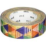 MT Washi Masking Tape, 1P DECO, 15mm x 10m, Stripe Triangle Blue (MT01D290)
