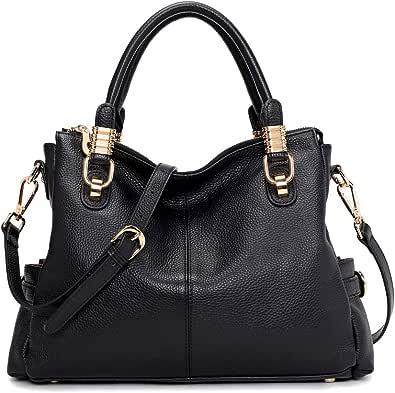 Kattee Women's Genuine Leather Purses and Handbags, Satchel Tote Shoulder Bag