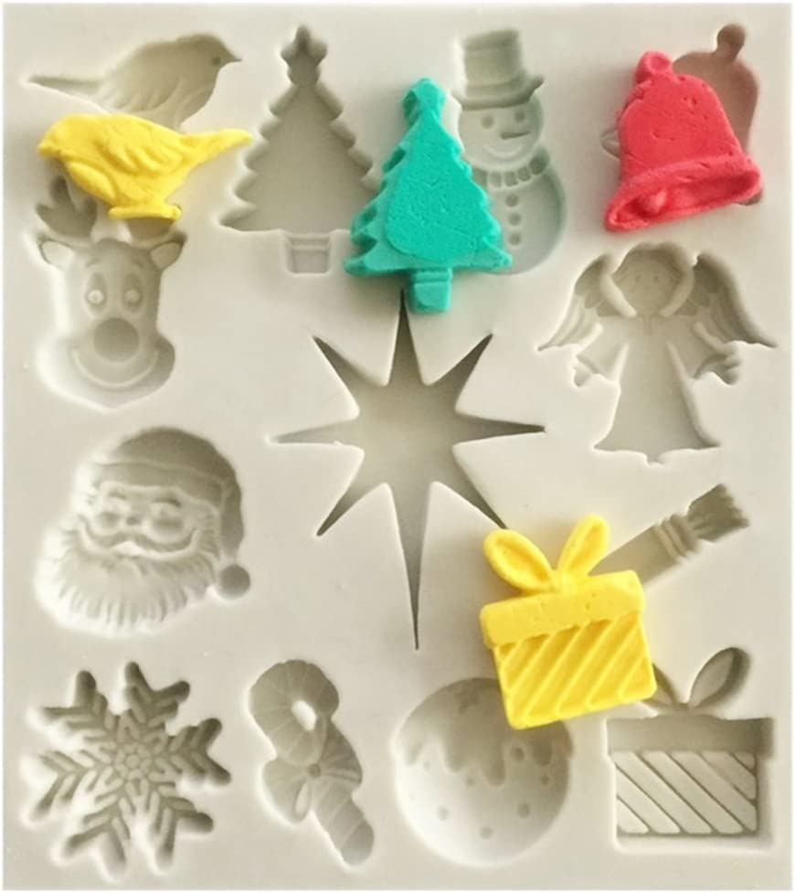Silicone Moulds Christmas Bells Sugarpaste Fondant Chocolate Mold Cutter