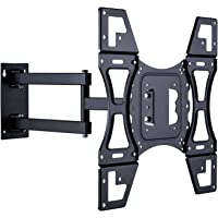 "UNHO Ultra Slim TV Wall Bracket Tilt and Swivel TV Brackets Wall Mount with Full Motion 19.68"" Articulating Arm for 26…"