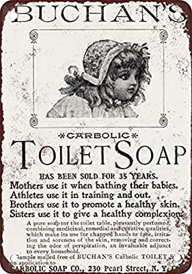 1869 Buchan's Carbolic Toilet Soap Vintage Look Reproduction Metal Tin Sign 12X18 Inches
