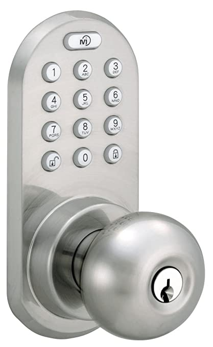 Beau MiLocks Bluetooth And Keypad Door Knob, Satin Nickel