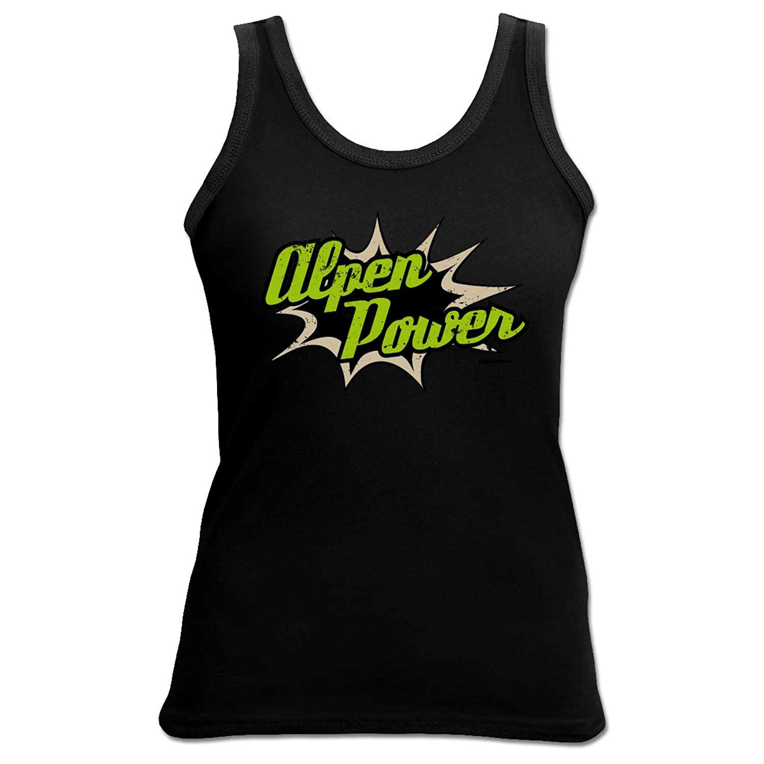 Tank Top Alpen Power Damenshirt Damen Apres Ski Funshirt lustiger Aufdruck Girlie Girl cool