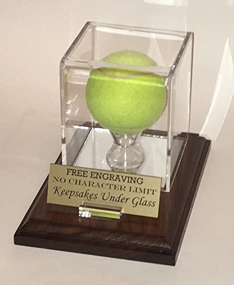 Keepsakes Under Glass Tennis Ball Personalized Acrylic Display Case