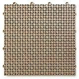 "DuraGrid 12"" x 12"" Interlocking Deck and Patio Tiles, Pack of 30, Beige"