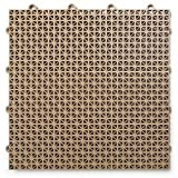 DuraGrid 12'' x 12'' Interlocking Deck and Patio Tiles, Pack of 30, Beige