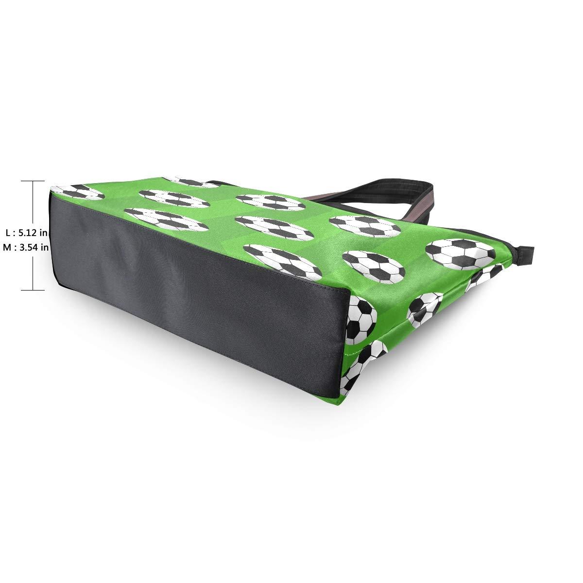 HousingMart Large Women Tote Bag Soccer Ball Field Handbags Tote Handle with Zipper Shoulder Bag Grocery Shopping Work Bag