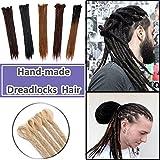 Unisex Dreadlocks Extensions 20 inch Handmade Locs Twist Braiding Hair 25 Pcs Reggae Hippie Dreads Hair Hipple Style Bleach Blonde