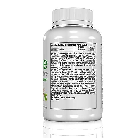 Quamtrax Nutrition Caffeine, Suplemento para Adelgazamiento - 108 gr: Amazon.es: Salud y cuidado personal
