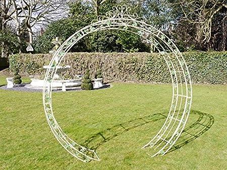 Arco de jardín pérgola Arbour rosa celosía redondo arco para plantas trepadoras 2.3 M: Amazon.es: Jardín