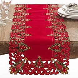 "Holiday Christmas Tree Table Runner - 16"" X 68"""