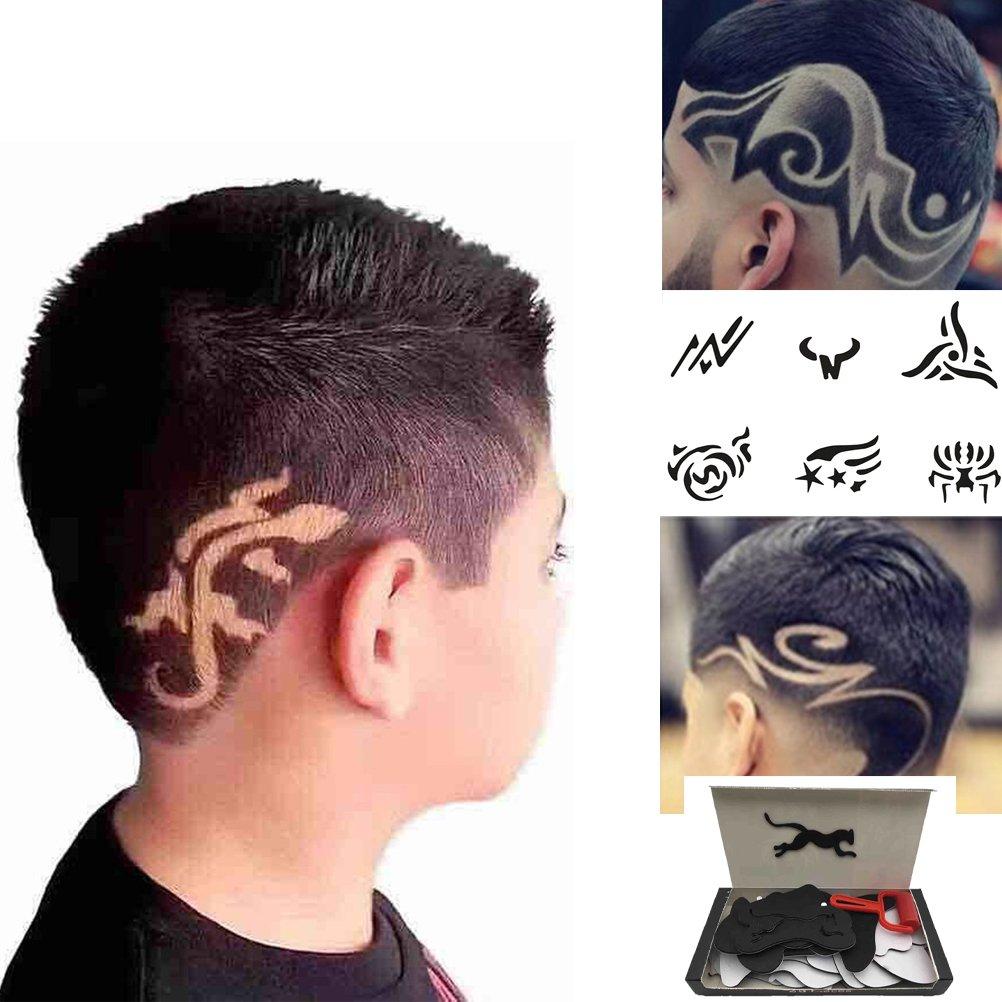Amazon Com Crazy Haircut Tattoo Zyooh 25 Pcs Temporary