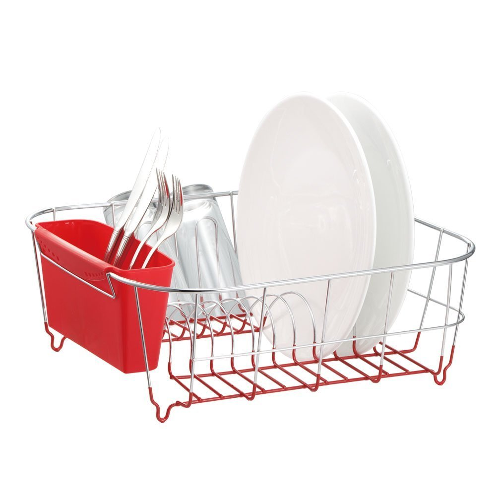 Amazon.com   Neat O Deluxe Chrome Plated Steel Small Dish Drainers (Red)