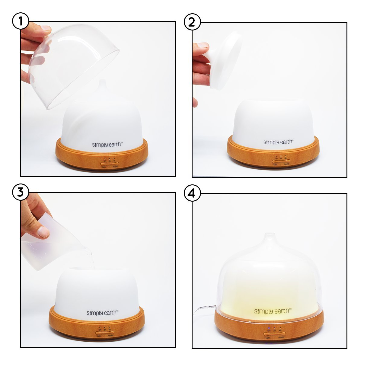amazon com simply earth 200ml aromatherapy essential oil diffuser