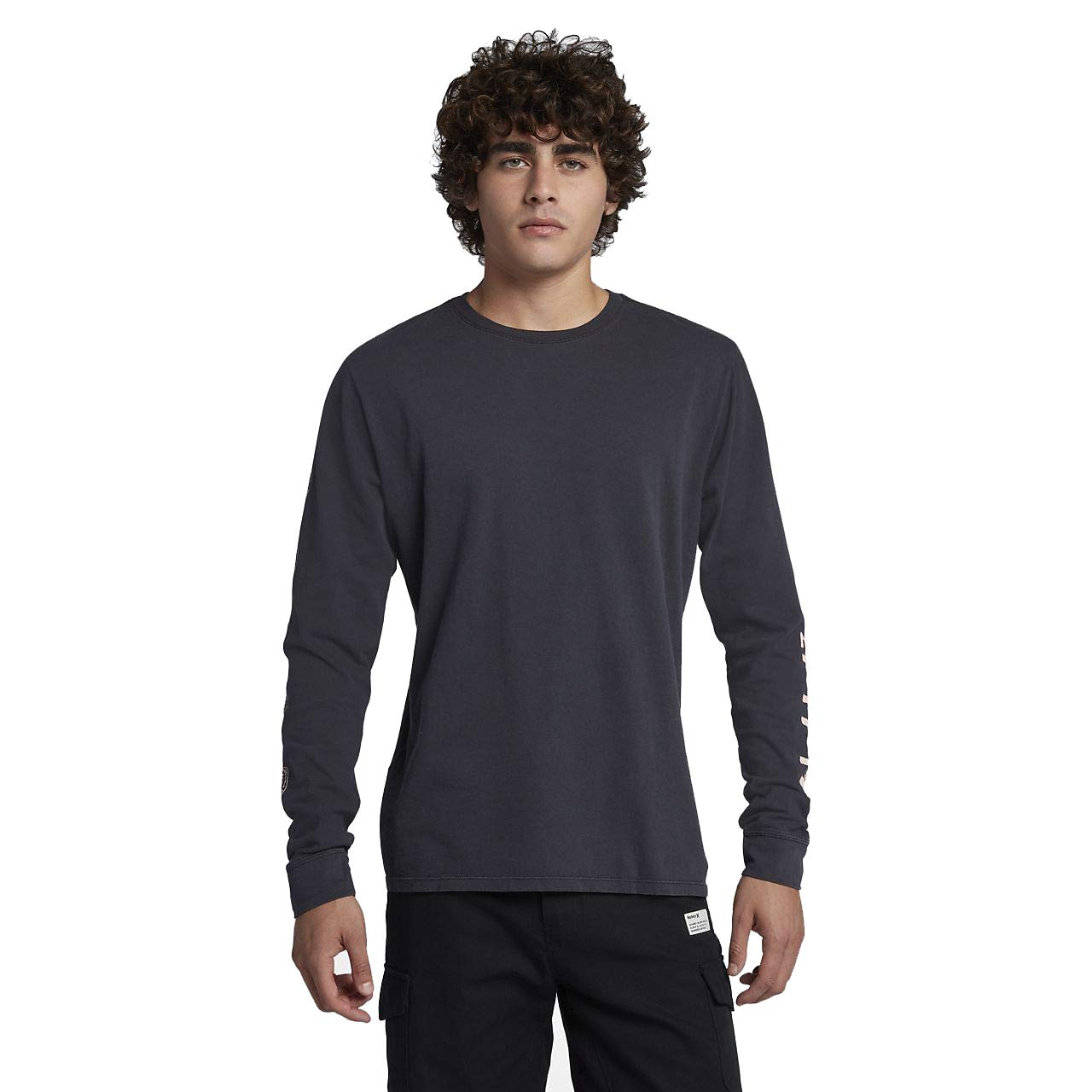 Hurley AJ1749 Men's Heavy Cool Summer Long Sleeve T-Shirt, Anthracite - M