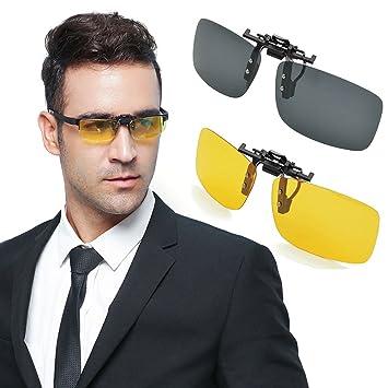 f163a9b5b5fd7b Sonnenbrillen Clip, Ubegood Sonnenbrille Aufsatz Polarisierende Sonnenbrille  Brillen Aufsatz [UV-Schutzfaktor] Polarizing. Für größere Ansicht Maus über  ...