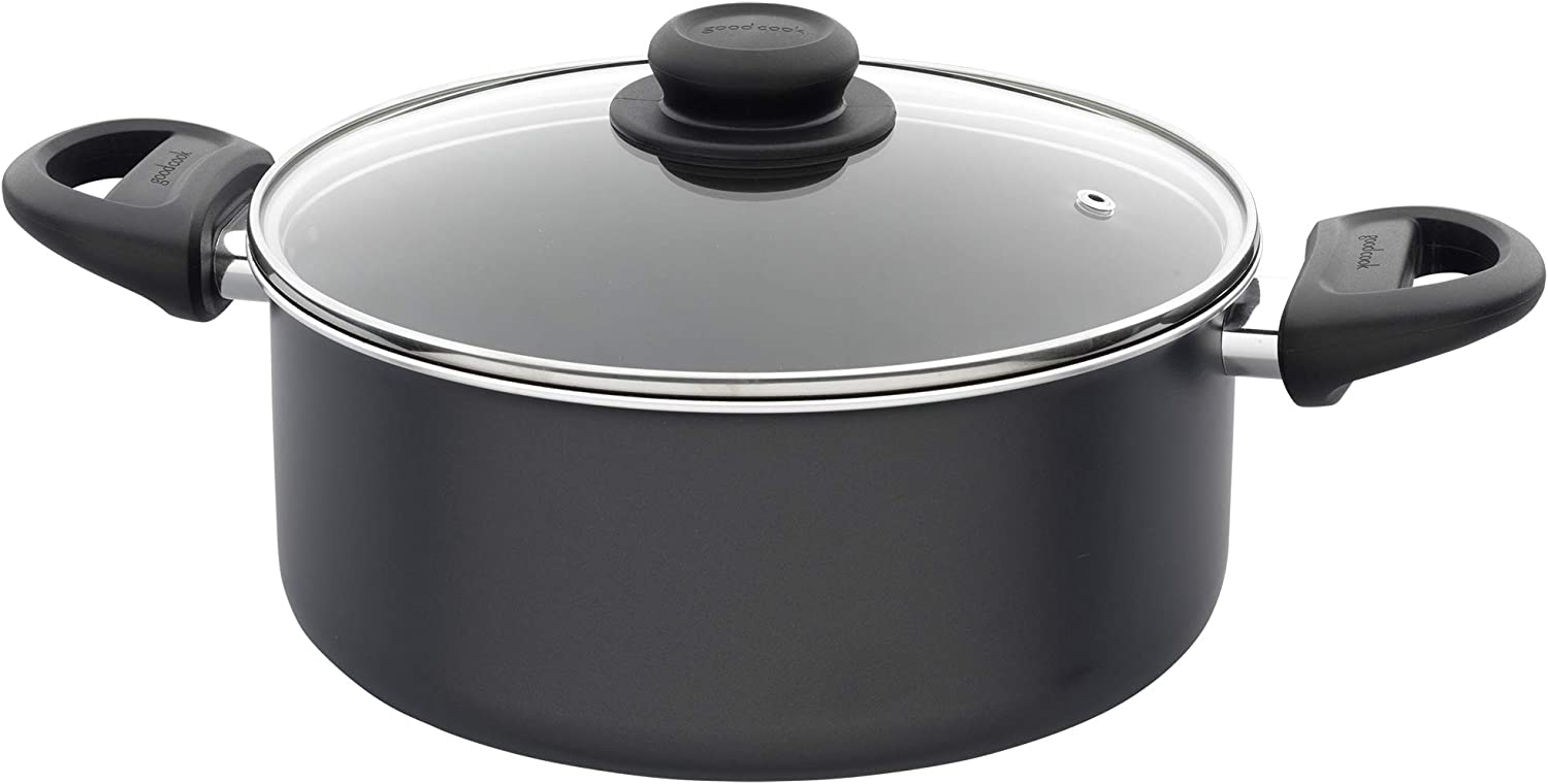Goodcook 06015 Dishwasher Safe Nonstick, Even Heating Cookware, 10 pc, Non-stick black