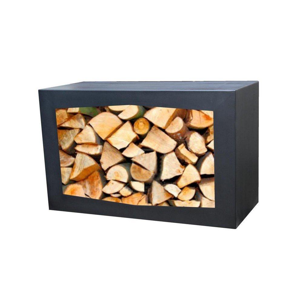 Gardenmaxx Woodbox acciaio nero in legno
