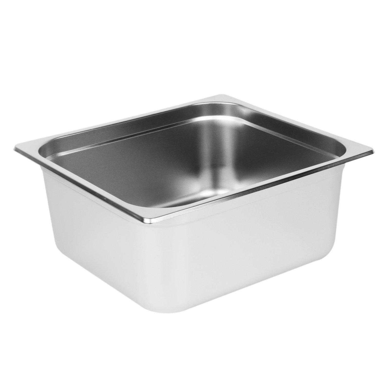 Excellante Two-Third Size 6-Inch Deep 24 Gauge Anti Jam Steam Pans