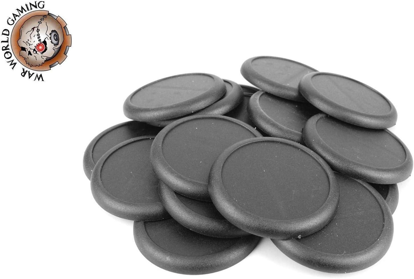 War World Gaming - Peanas Redondas de plástico 50mm con Labio (Elige cantidad) - Wargames Históricos, Wargaming, Base, Escenografía, Miniaturas, Dioramas, Figuras, RPG: Amazon.es: Juguetes y juegos