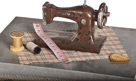 onlyclic@ Máquina de coser Costurero Cesta Cofre Vintage Rústico ...