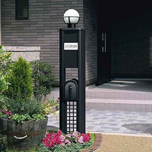 三協アルミ 機能門柱 KE型 プラン3 KE *表札はネームシールとなります 『機能門柱 機能ポール』 ツートン B00ALQ6AIE 本体カラー:ツートン