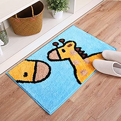 HAPLL Cute Animal Handmade Bath Mat Animal Rugs for Kids Washable Non-Skid Floor Rug Toilet/Foyer Mats Small