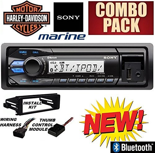 96-2013 Marine Harley Touring Bluetooth Stereo Radio Install Adapter Dash Kit Flht Flhx Flhtc (Sony 1 Mounting)