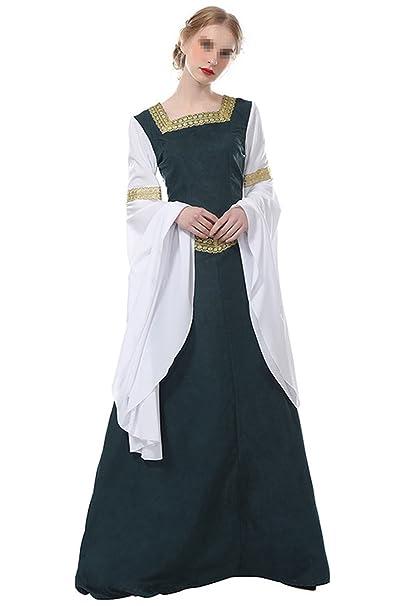 tianxinxishop Vestido de Traje Medieval Renacentista Vestido ...
