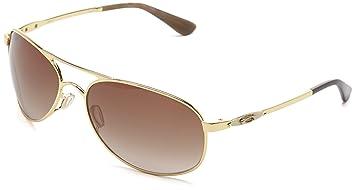 oakley womens sunglasses given  oakley given women's sunglasses polished gold/dark brown gradient size:m