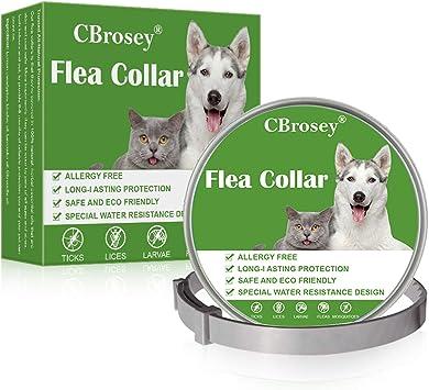 CBROSEY Anti pulgas Perro,Anti pulgas Gato,Collar antipulgas para Gatos, Collar antipulgas para Perros y Gatos: Amazon.es: Productos para mascotas