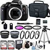 Canon EOS Rebel T6i DSLR Camera (Body Only) with Bundle - Includes 58mm HD Wide Angle Lens + 2.2X Telephoto + 2Pcs 32GB Sandisk SD Memory + Filter & Macro Kit & More Accessories
