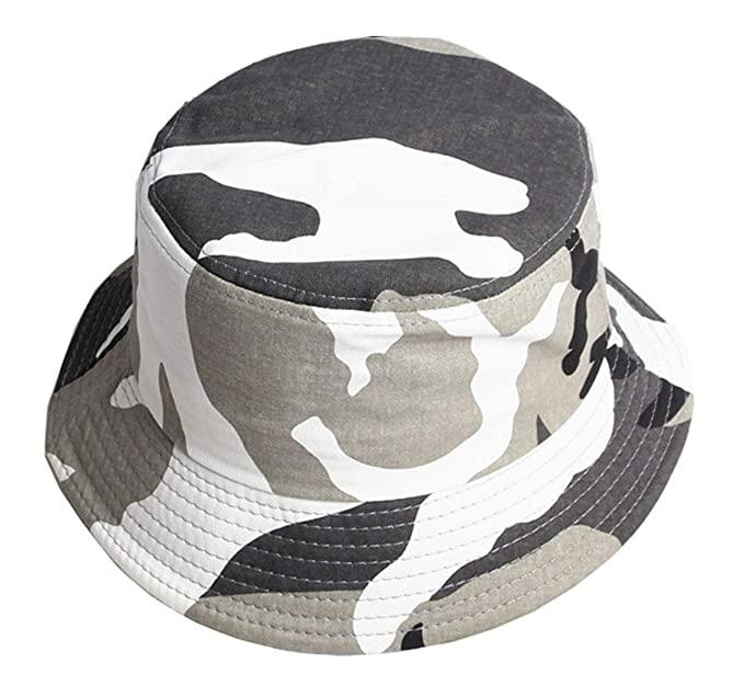 dcaa2a0e Camouflage Bucket Hat for Men Military Fisherman Cap Unisex Camo Packable  Summer Travel Sun Hat (