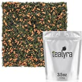 Tealyra - Imperial Gyokuro Genmaicha - Japanese Loose Leaf Tea - Gen Mai Cha Green Tea with Brown Roasted Rice - Organically Grown - Caffeine Level Low - 100g (3.5-ounce)