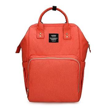 0709445dcfdde Amazon.com   Heine Mummy Maternity Nappy Bag Brand Large Capacity Baby Bag  Travel Backpack Desiger Nursing Bag for Baby Care (Orange Red)   Baby