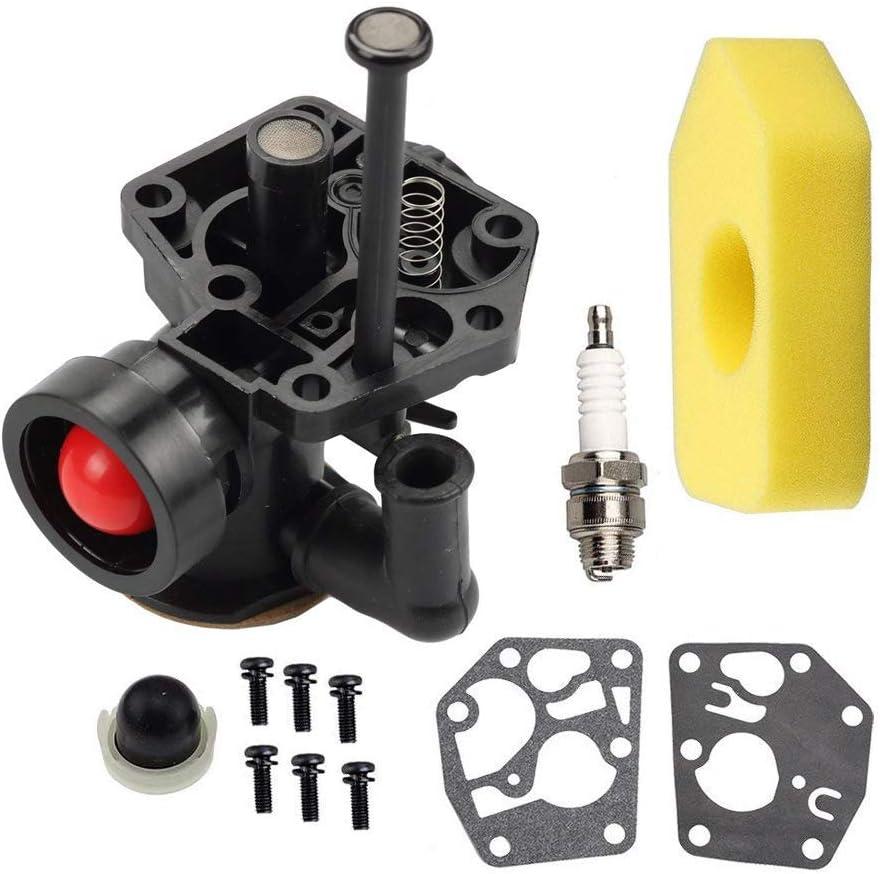 Fuerdi 795477 Carburetor for Briggs & Stratton 498811 795469 794147 699660 carb with 698369 Air Filter Gasket & Diaphragm Kit
