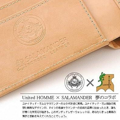 a0bc9d2a5f90 Amazon | United HOMME ユナイテッド・オム 二つ折り財布 メンズ サラマンダーボンデッドレザー ブラック 【UHP-001】 |  財布