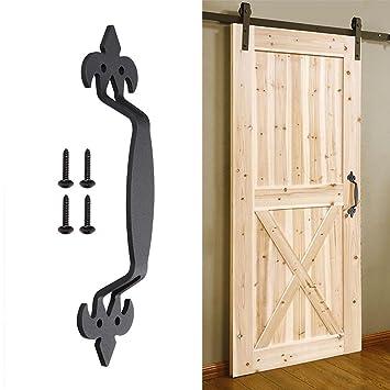 Amazoncom Matte Black 11 Sliding Barn Door Handle Cast Iron