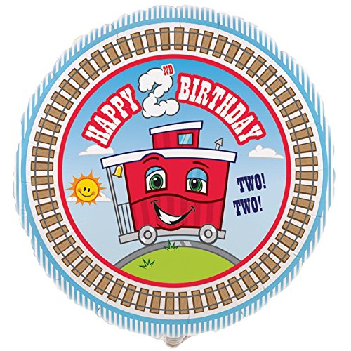 Cti Industries Corporation 2nd Birthday Train Party Supplies - Foil Balloon -